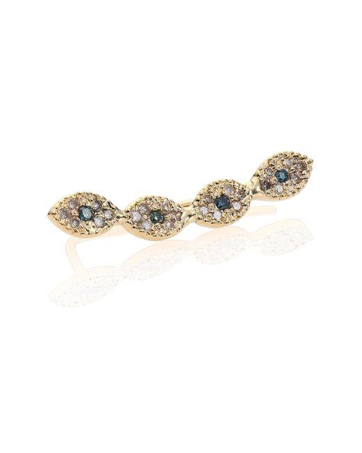 Jacquie Aiche - Metallic Multicolor Diamond & 14k Yellow Gold Mini Eye Single Ear Cuff - Lyst