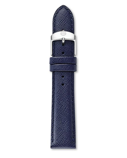 Michele Watches - Blue Saffiano Leather Watch Strap/18mm - Lyst