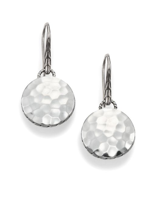 John Hardy - Metallic Palu Sterling Silver Disc Drop Earrings - Lyst