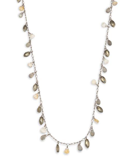 Chan Luu - Multicolor Pyrite Mix Short Necklace - Lyst