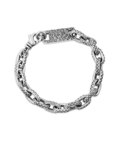 King Baby Studio - Metallic Oval Link Sterling Silver Bracelet for Men - Lyst