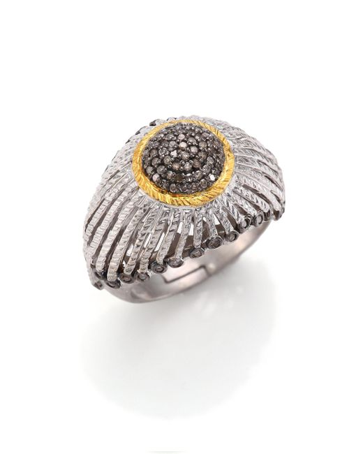 Coomi - Metallic Diamond, 20k Yellow Gold & Sterling Silver Ring - Lyst
