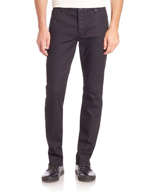 John Varvatos - Blue Buttoned Slim-fit Jeans for Men - Lyst