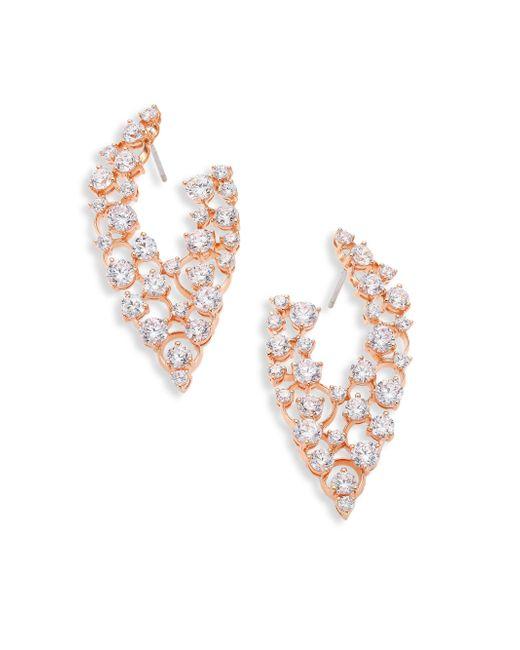 Adriana Orsini   Metallic Caspian Crystal Front-back Hoop Earrings   Lyst