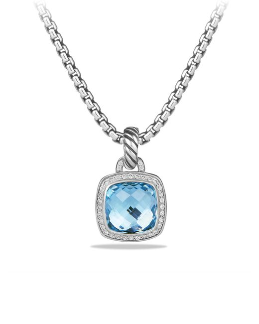 David Yurman - Blue Albion Pendant With Diamonds - Lyst