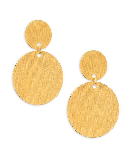 Nest - Metallic Brushed Disc Earrings - Lyst