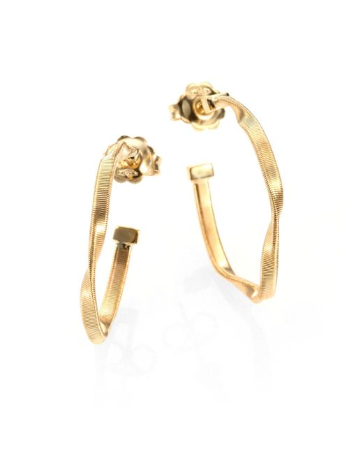 Marco Bicego | Metallic Marrakech 18k Yellow Gold Twisted Hoop Earrings/1 | Lyst