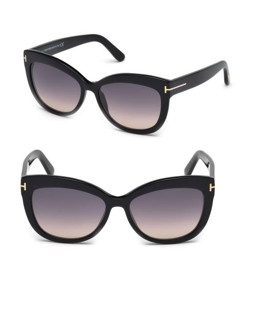 Tom Ford - Black Alistair 56mm Cat Eye Sunglasses - Lyst
