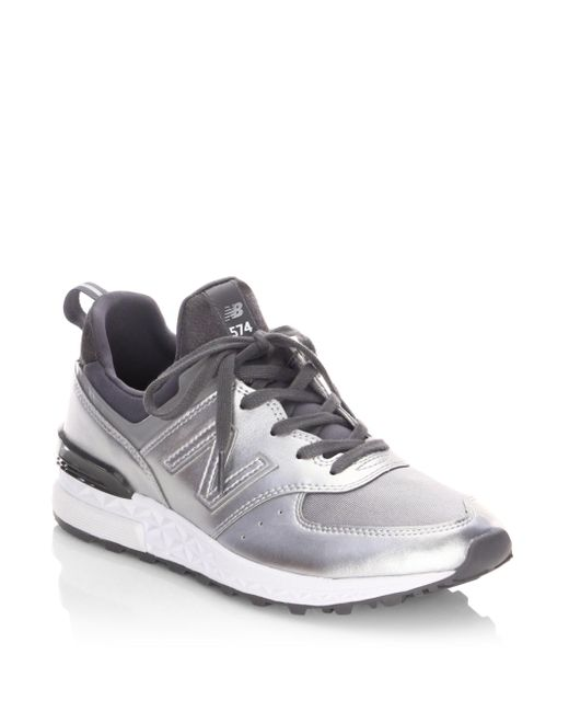 1fa7a186bd1e60 ... canada new balance metallic womens 574 lace up sneakers lyst 755f5 ad425
