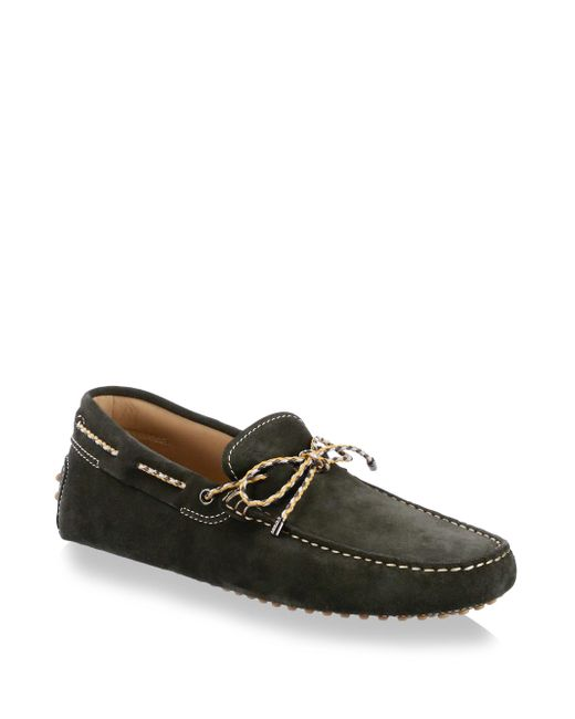 Tod's - Green Gommini Leather Moccasins for Men - Lyst