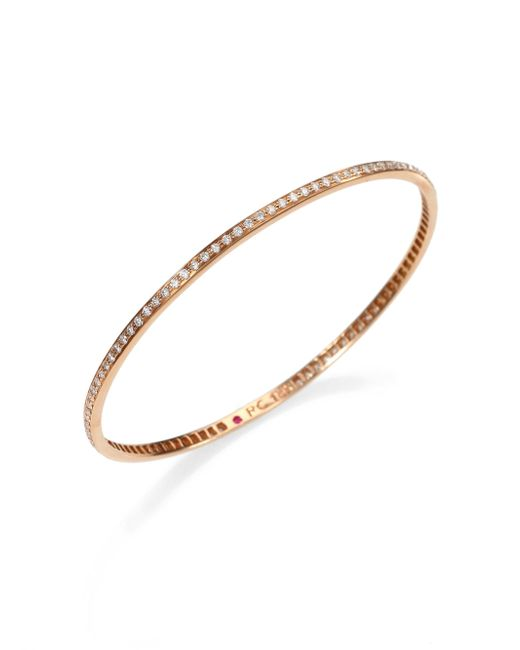 Roberto Coin   Metallic Diamond & 18k Rose Gold Bangle Bracelet   Lyst