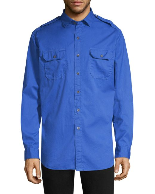 Polo Ralph Lauren - Blue Rover Military Cotton Button-down Shirt for Men - Lyst