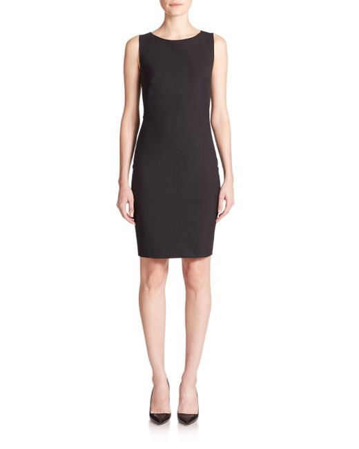 Theory | Black Betty Edition Stretch Wool Sleeveless Dress | Lyst