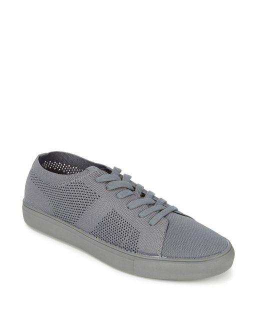Steve Madden - Gray Round Toe Low-top Sneakers - Lyst