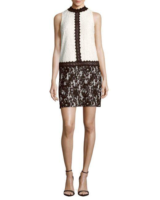 Maggy London - Black Mockneck Lace Dress - Lyst