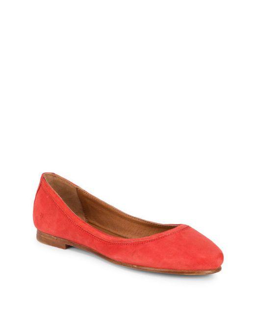 Frye - Red Carson Ballet Flats - Lyst