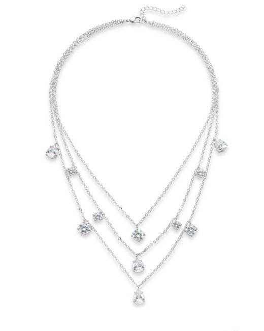CZ by Kenneth Jay Lane | Metallic Three-layer Drop Necklace | Lyst
