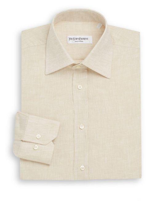 Saint Laurent | Natural Regular-fit Linen Dress Shirt & Gift Box for Men | Lyst