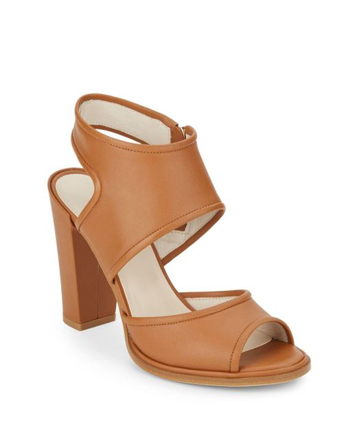 Kenneth Cole | Brown Stace Block Heel Sandals | Lyst