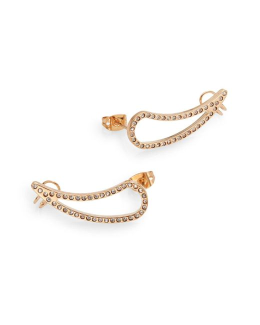 Vita Fede | Pink Teardrop Crystal Cuff Earrings/rose Goldtone | Lyst