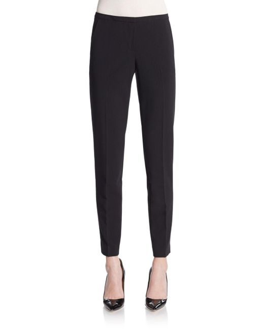 Tahari | Black Jillian Slim Ankle Pants | Lyst