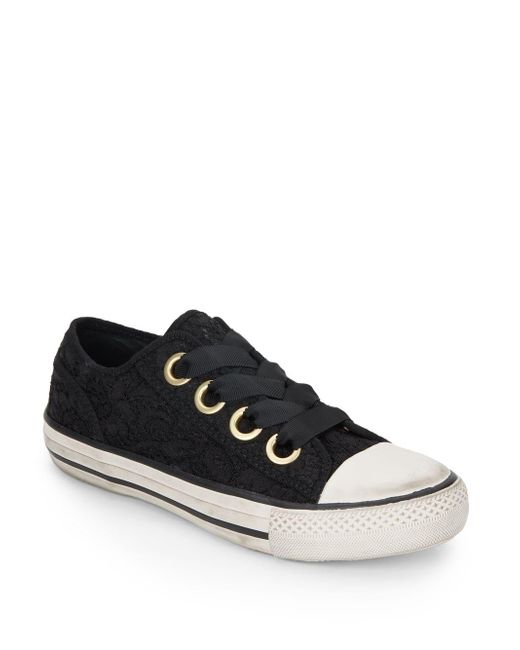 Ash | Black Vicky Lace Sneakers | Lyst