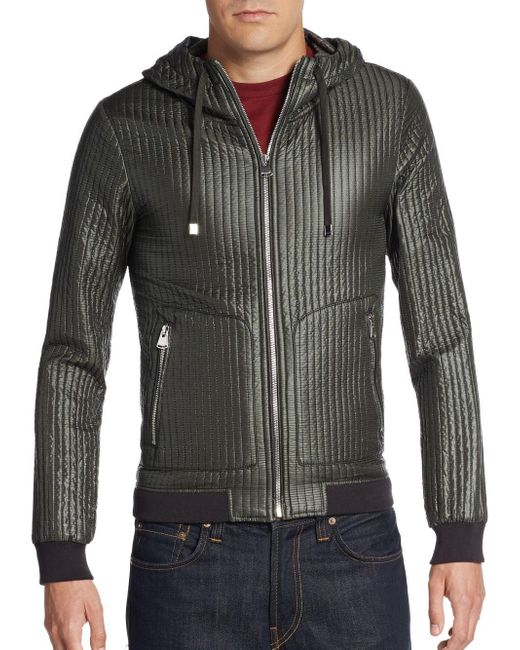 Dolce & Gabbana | Green Quilted Hooded Nylon Jacket for Men | Lyst