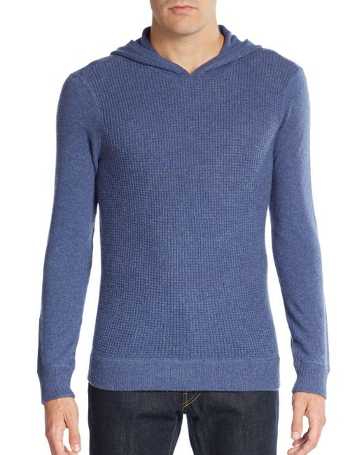 Saks Fifth Avenue | Blue Waffle-knit Cashmere Hoodie for Men | Lyst