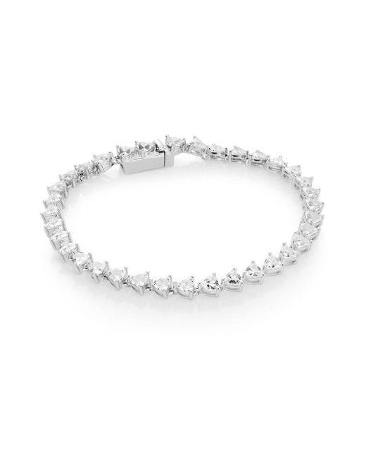 Adriana Orsini | Metallic Trillionaire White Stone Bracelet | Lyst