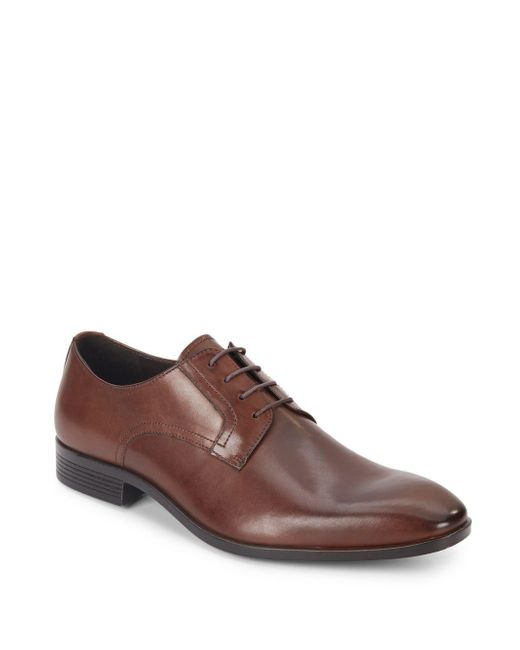 Saks Fifth Avenue | Brown Leather Oxfords for Men | Lyst