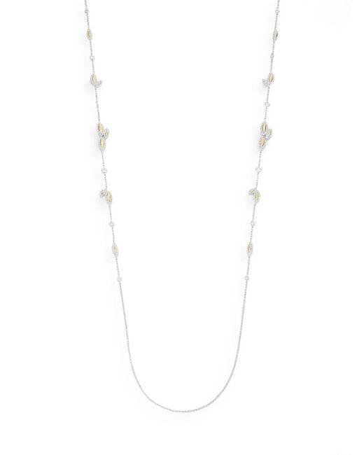 Adriana Orsini | Metallic Pavà Leaf Two-strand Necklace | Lyst