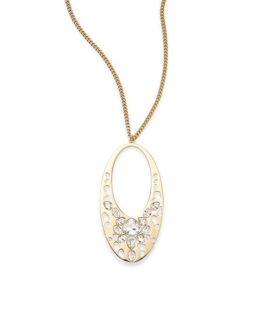 Swarovski   Metallic Ariane Crystal Pendant Necklace   Lyst