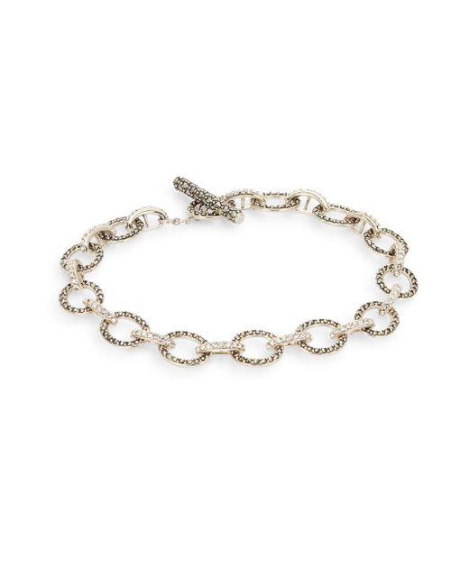 Judith Jack | Metallic Marcasite, Crystal & Sterling Silver Link Bracelet | Lyst