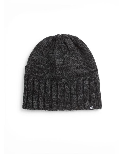 Block Headwear | Black Marled-knit Beanie | Lyst