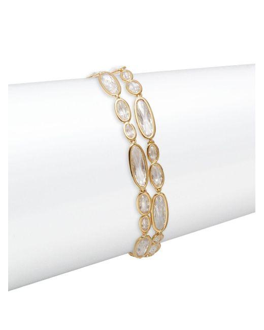 Adriana Orsini   Metallic Oval Link Bracelet   Lyst