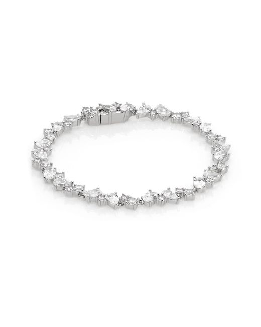Adriana Orsini | Metallic Multi-shape Tennis Bracelet | Lyst