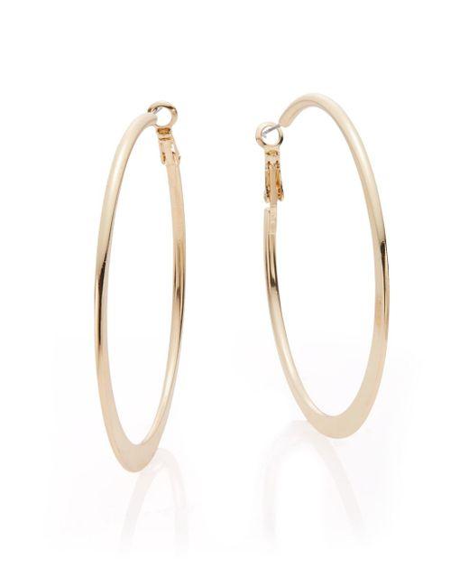 Saks Fifth Avenue | Metallic Medium Hoop Earrings/goldtone | Lyst