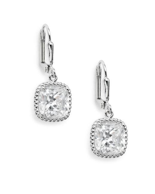 Saks Fifth Avenue | Metallic Square Drop Earrings | Lyst