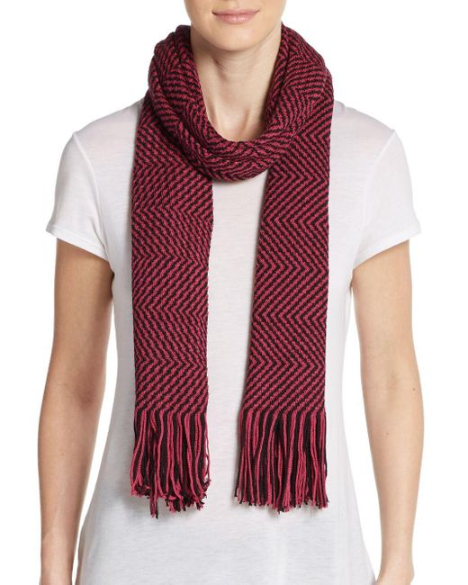 Missoni | Purple Wool-blend Two-tone Zig-zag Scarf | Lyst
