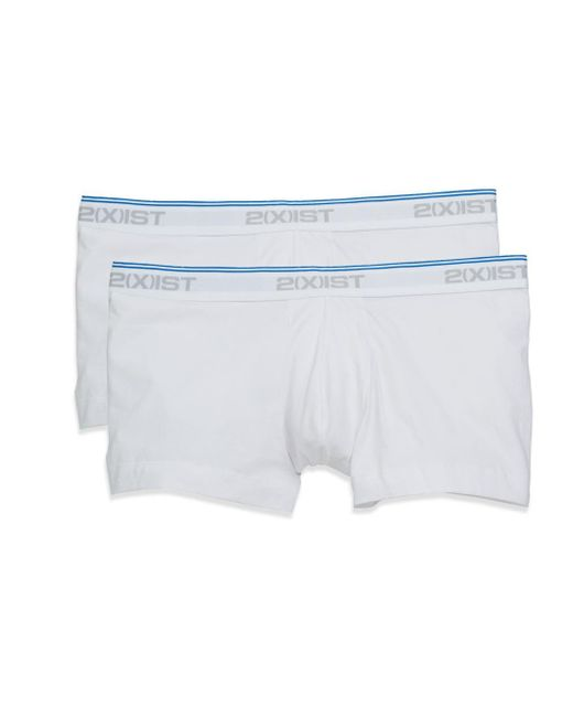2xist   White Stretch-cotton Briefs, 2-pack for Men   Lyst