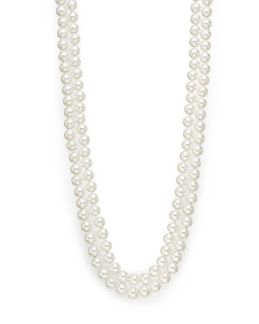 Saks Fifth Avenue | White 8mm Simulated Pearl Necklace/48"