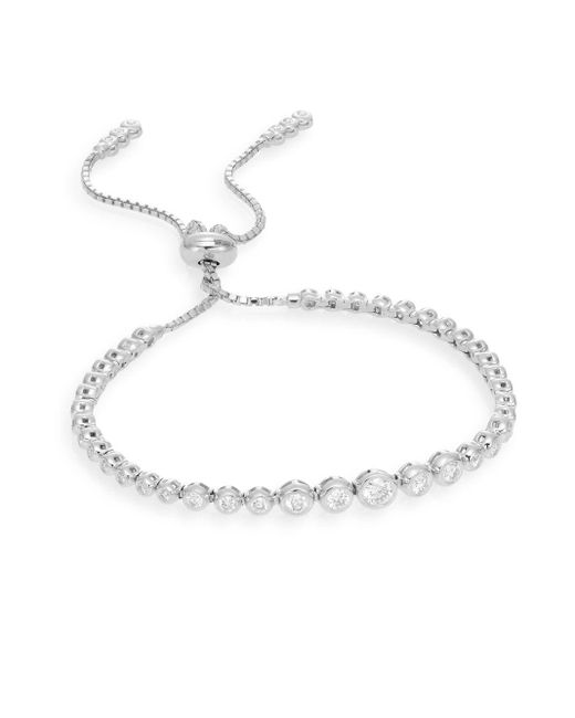 Saks Fifth Avenue | 1.0 Tcw Diamond & 14k White Gold Bracelet | Lyst