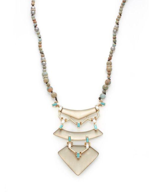 Alexis Bittar   Metallic Lucite Three-tier Pendant Necklace   Lyst