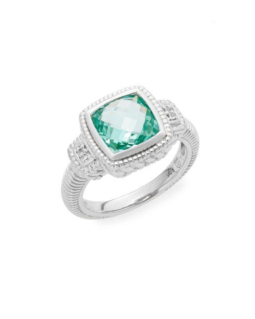 Judith Ripka | Metallic La Petite Paraiba Spinel, White Sapphire & Sterling Silver Ring | Lyst