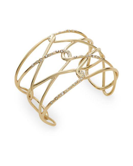 Alexis Bittar | Metallic Miss Havisham Liquid Crystal Barbed Cuff Bracelet/goldtone | Lyst