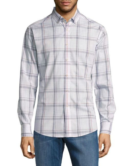 Vince Camuto | Multicolor Regular Fit Pima Cotton Sportshirt for Men | Lyst