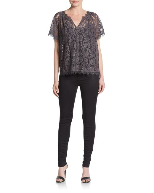 Joie | Brown Libana Lace Top | Lyst