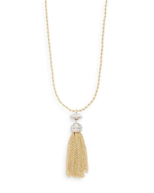 Saks Fifth Avenue | Metallic Chain Tassel Pendant Necklace | Lyst