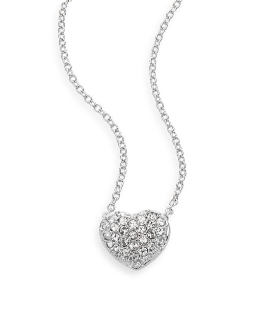 Swarovski | Metallic Necklace, Crystal Heart Pendant | Lyst