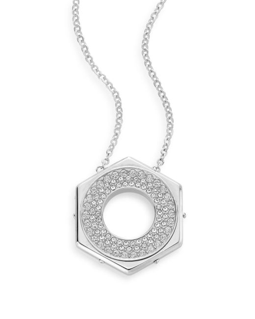 Swarovski | Metallic Bolt Crystal Pavé Pendant Necklace | Lyst